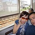 坐JR前往嵐山
