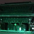 晚上的西本院寺-在我們家附近