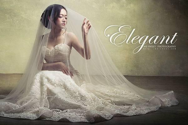 NO.9獨家-英式古董蕾絲魚尾手工婚紗