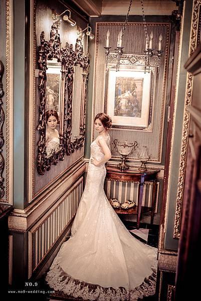 自助婚紗.英式手工白紗