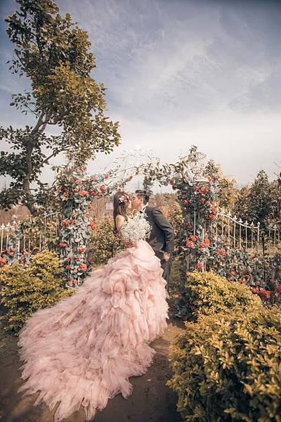 NO. 9獨家St. Paul's婚紗--多層次粉紅澎裙禮服