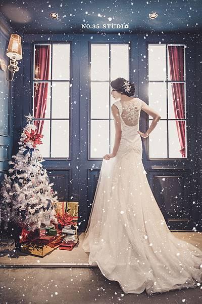 聖誕節婚紗-NO.35攝影棚工作室