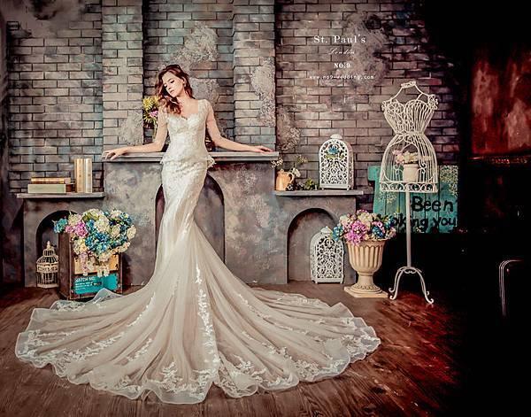 第九大道英式手工婚紗