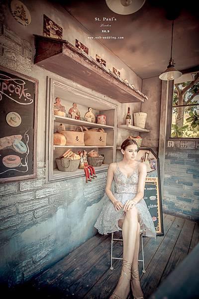 NO.9獨家新款-唯美粉銀紗芭蕾短裙