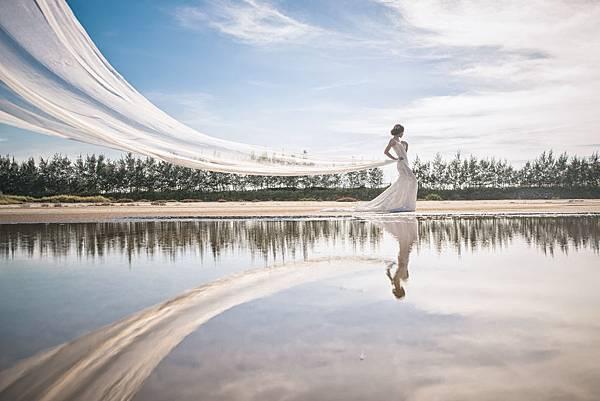 NO.9婚紗攝影-裸感蕾絲手工白紗