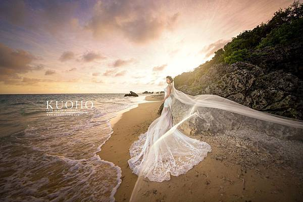NO.9婚紗攝影-輕透手工蕾絲白紗