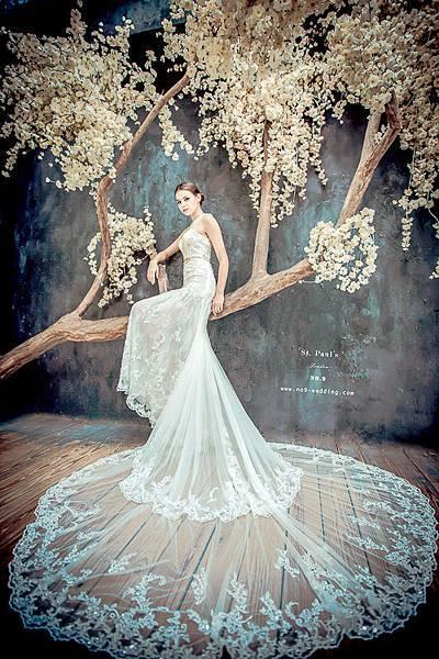 NO.9獨家-古典蕾絲氣勢白紗