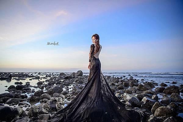 NO.9婚紗攝影-蕾絲美背魚尾禮服
