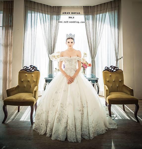 NO.9獨家-安曼皇室極緻手工婚紗