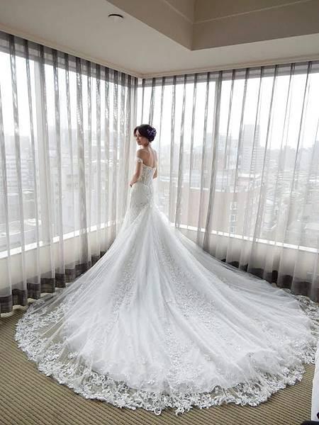 NO.9婚紗攝影-古典蕾絲手工白紗