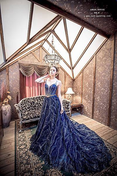 NO.9獨家-銀河星空藍訂製款禮服