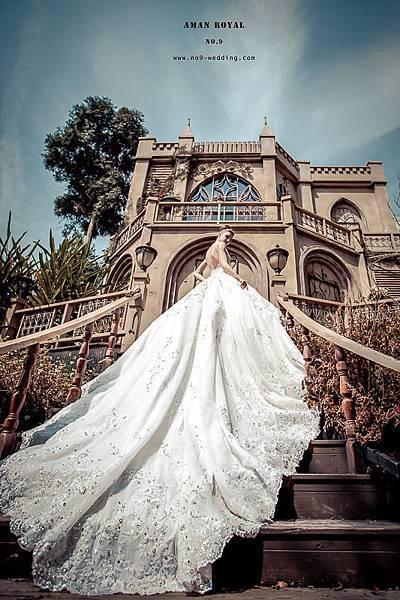 NO.9獨家-安曼皇室極致奢華手工婚紗