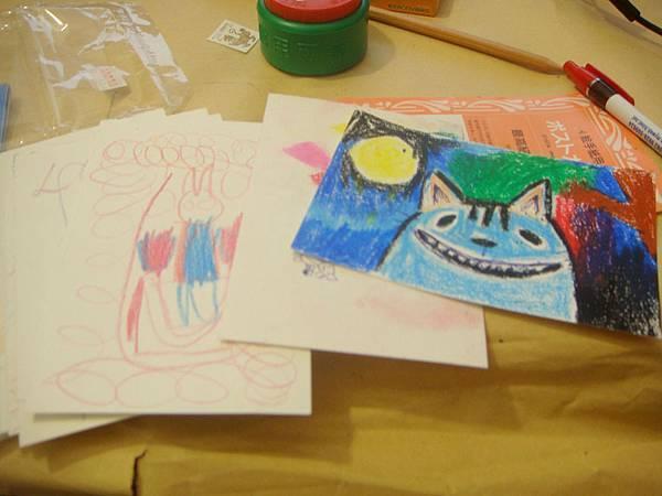 右邊那張我畫的明信片.JPG