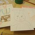 現場小朋友化的明信片.JPG