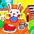 偷菜兔的第1天(開心的農場) .jpg