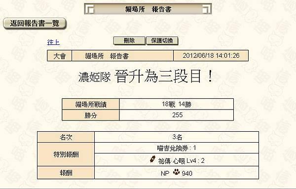 貓場_20120616_晉升三段目