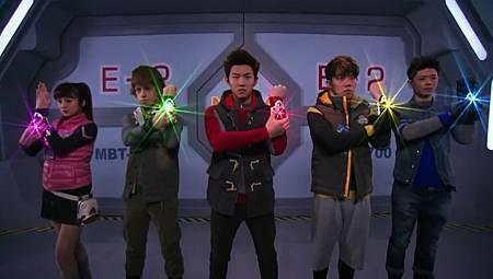空間戰擊隊五人主角