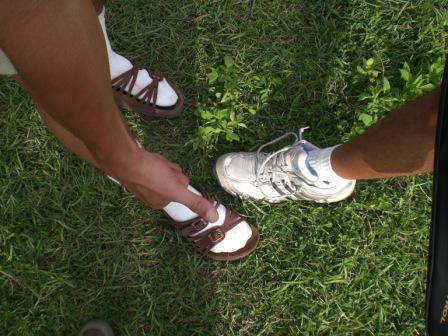 網球員的鞋子