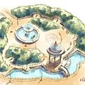噴水池花園