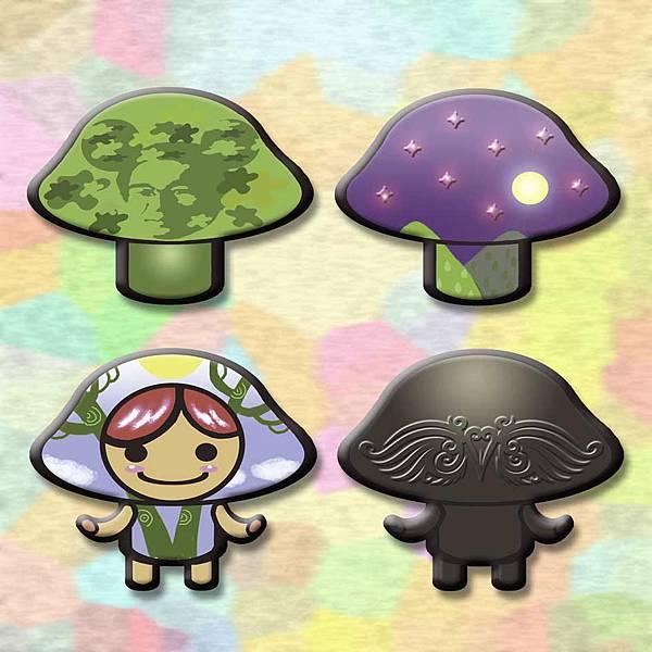 蘑菇磨菇亮晶晶