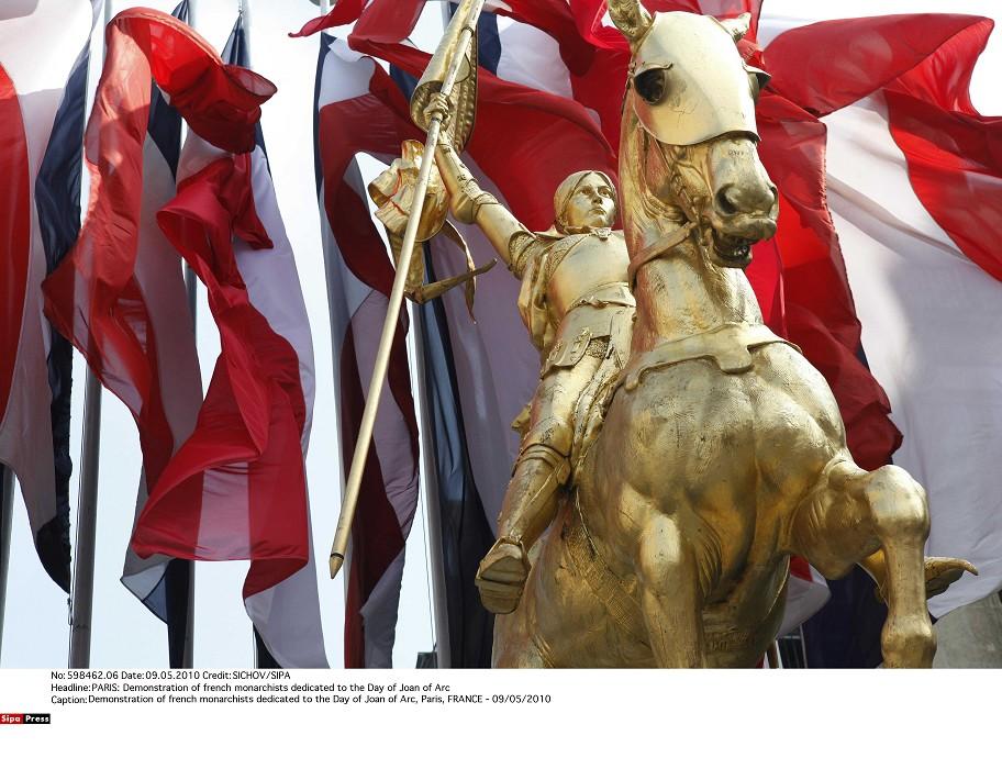 巴黎市中心的聖女貞德雕像前,向來是法國選舉的造勢重鎮。.jpg