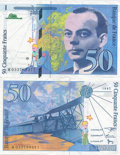 法國小王子50元法郎