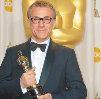 克里斯多夫華茲奪下第2座奧斯卡最佳男配角。(法新社)