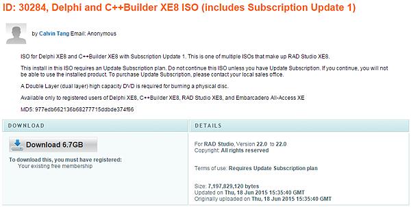 RAD Studio XE8 Update 1 下載及安裝說明(Delphi) @ 廖啟甫(Nolon Liao