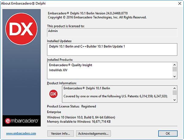 Embarcadero Delphi 10.1 Berlin Version 24.0.24468.8770.png