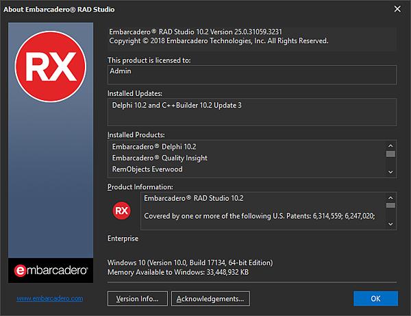 Embarcadero RAD Studio 10.2 Version 25.0.31059.3231.png