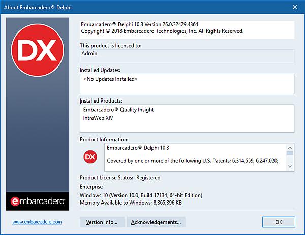 Embarcadero Delphi 10.3 Version 26.0.32429.4364.png