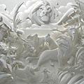 驚人的紙雕塑作品2