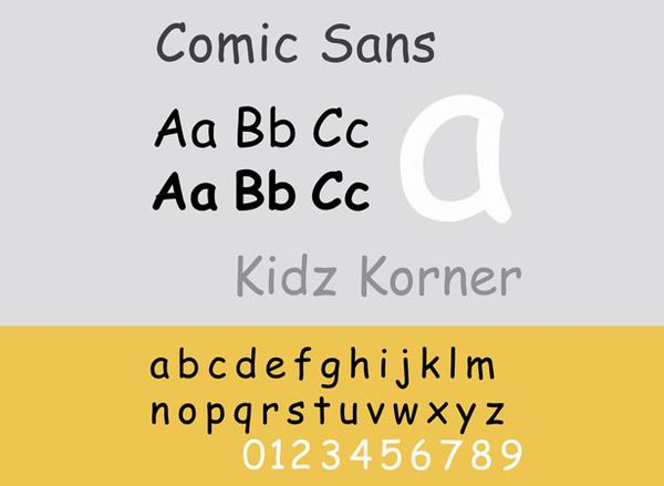 10種應該避免被濫用的字體4