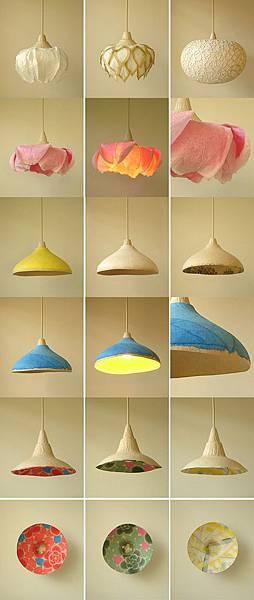 紙質自然燈具設計