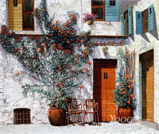 Guido Borelli油畫作品2