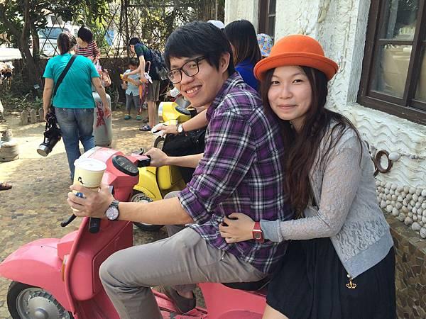 粉紅摩托車