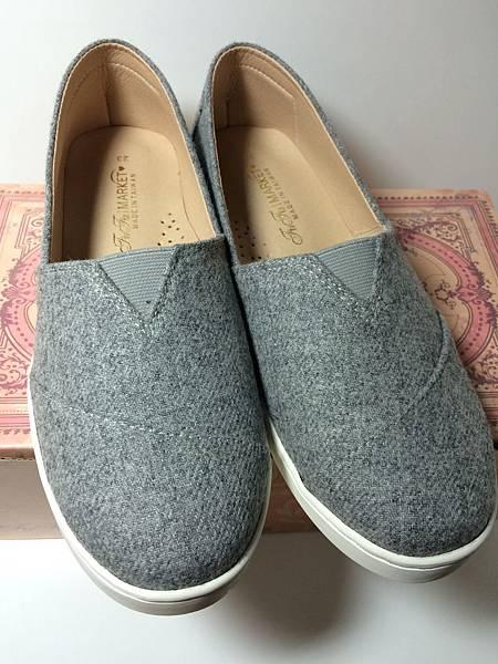 灰色懶人鞋