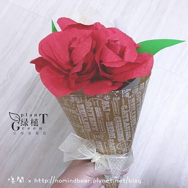 皺褶紙玫瑰花束包裝教學