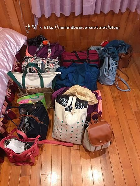 我們的行李好多