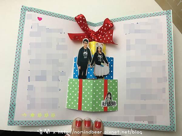 手工卡片作品分享-立體禮物盒