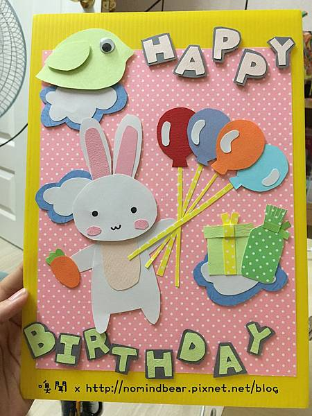 手工卡片作品分享-小兔子