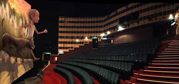 3D劇院為大尺寸IMAX螢幕,民眾只要戴上3D眼鏡,即可享有3D感受