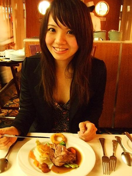 20100529麗星郵輪上的法式餐廳