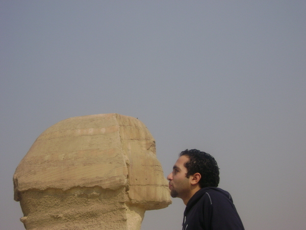 fathy kisses the sphinx
