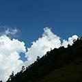 合歡山莊仰望合歡東峰..天氣超好!