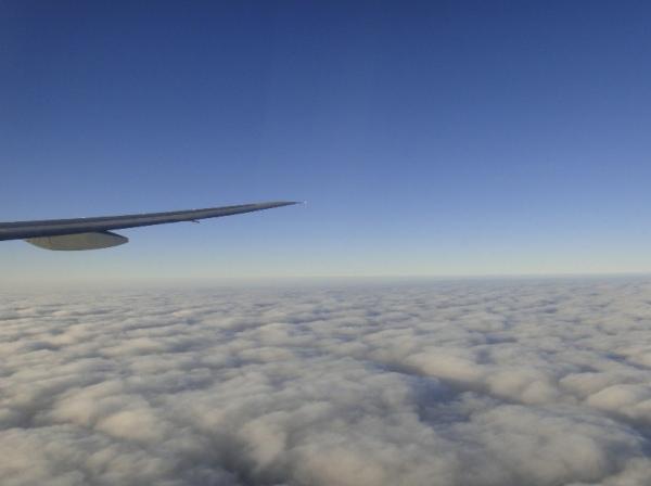 尼泊爾-飛機上