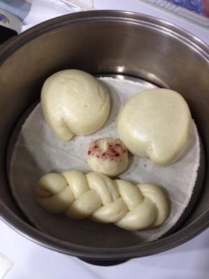 豆漿饅頭-上蒸鍋後