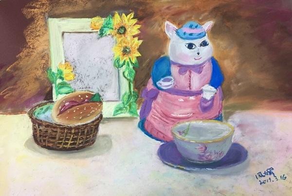 粉彩-情境小兔-3