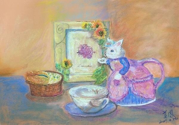 粉彩-情境小兔-4