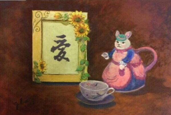 粉彩-情境小兔-5